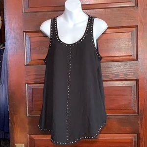 NWT Stitch Fix Pixley Black Sleeveless Shirt M